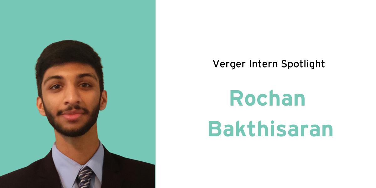 Intern Spotlight: Rochan Bakthisaran
